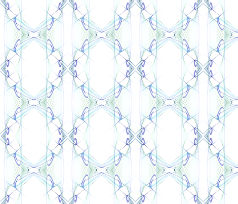 Symmetry in blue fabric by mihaela_zaharia on Spoonflower - custom fabric