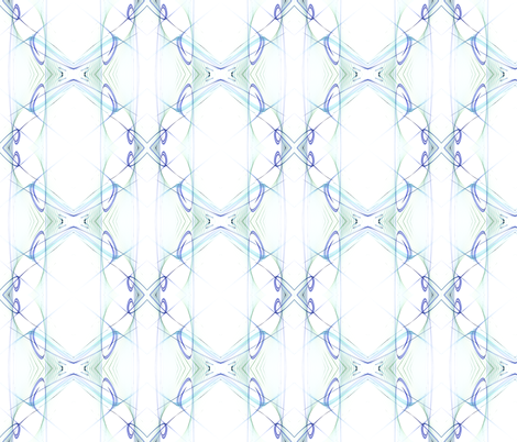 Symetry in blue wall decal fabric by mihaela_zaharia on Spoonflower - custom fabric