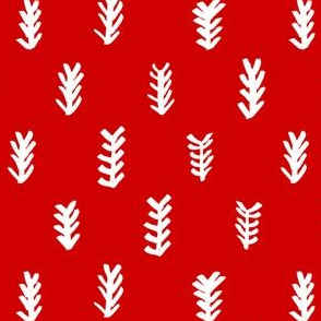 pine needles / red