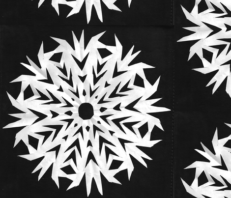 Snowflakes fabric by amordenti on Spoonflower - custom fabric