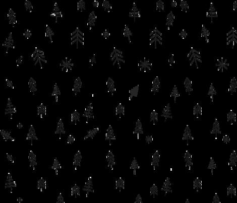 O Christmas tree[s] fabric by threelivesleft on Spoonflower - custom fabric