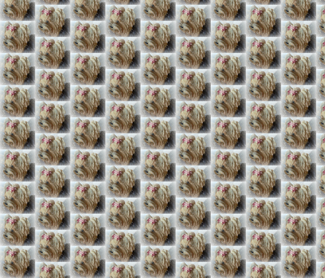 Snowflake Yorkie fabric by mysisnme312 on Spoonflower - custom fabric