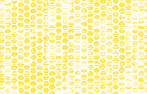 Beehive Grunge - Yellow fabric by friztin on Spoonflower - custom fabric