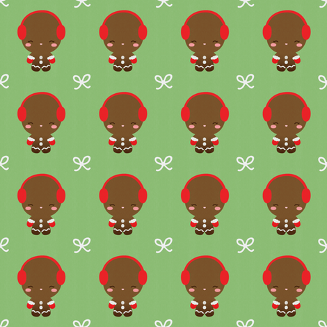 Ginger Bread Man fabric by kulikuli on Spoonflower - custom fabric