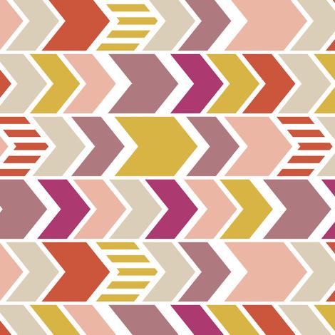 Pellerina Pink Chevron 90 deg mini fabric by mrshervi on Spoonflower - custom fabric