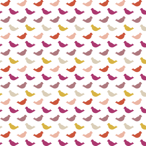 pinkbird fabric by mrshervi on Spoonflower - custom fabric