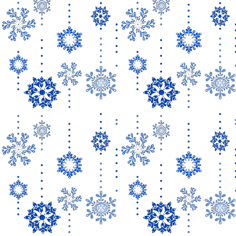 Simply Snowflake fabric by ninjaauntsdesigns on Spoonflower - custom fabric