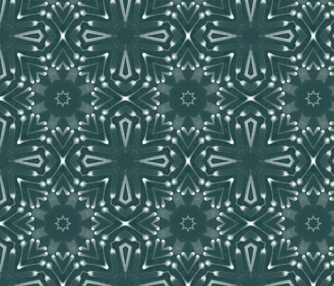 schraegerfuerst, kaleidoskop, snow fabric by schraegerfuerst on Spoonflower - custom fabric