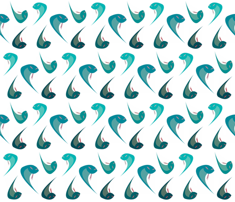 AQUATIC SNAKES fabric by bluevelvet on Spoonflower - custom fabric