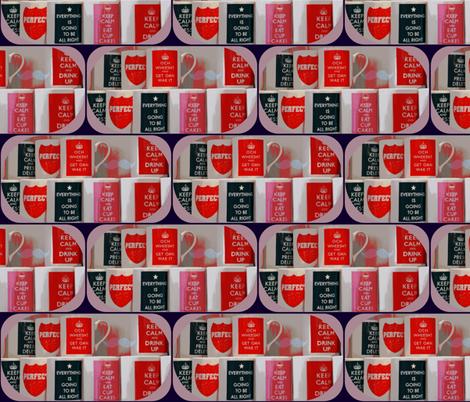 Tea Time for Beth - small print fabric by walkwithmagistudio on Spoonflower - custom fabric