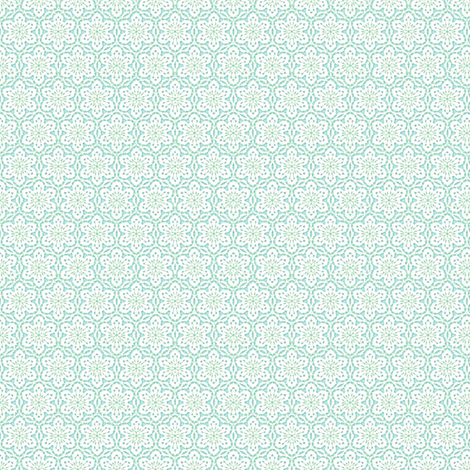 Snowflake Lace    -aqua1 fabric by fireflower on Spoonflower - custom fabric