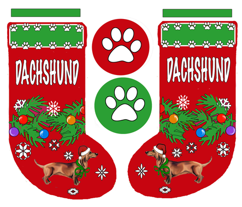DACHSHUND_stocking fabric by dogdaze_ on Spoonflower - custom fabric