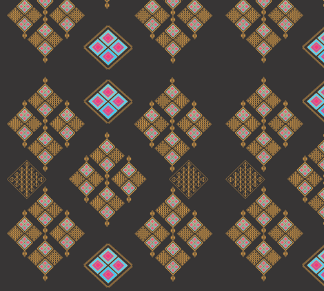 Egyptian Daimonds fabric by kelebek_rose_designs on Spoonflower - custom fabric