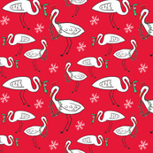 Christmas Cranes (Christmas red)