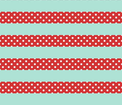 Picnic Stripe fabric by luckylucille on Spoonflower - custom fabric
