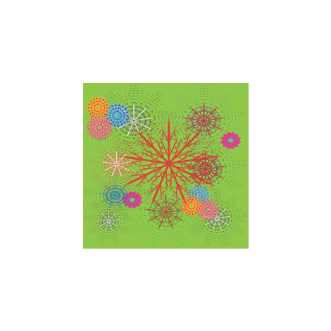 Colorful Snowflakes fabric by kelebek_rose_designs on Spoonflower - custom fabric