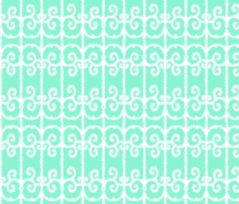 Ikat Moroccan Swirls fabric by fridabarlow on Spoonflower - custom fabric
