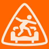 Safety Orange: Triangle CouchSurfing Logo