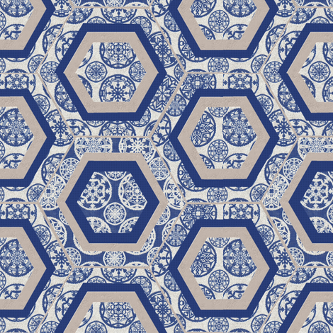 snowflake fabric by kirpa on Spoonflower - custom fabric