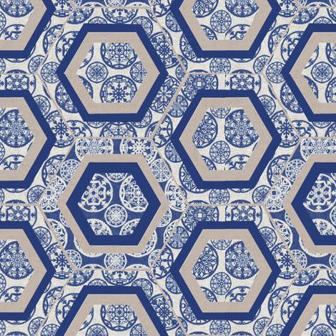 snowflake fabric by kirpa on Spoonflower - custom fabric