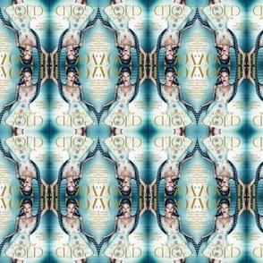 Vogue Ikat print
