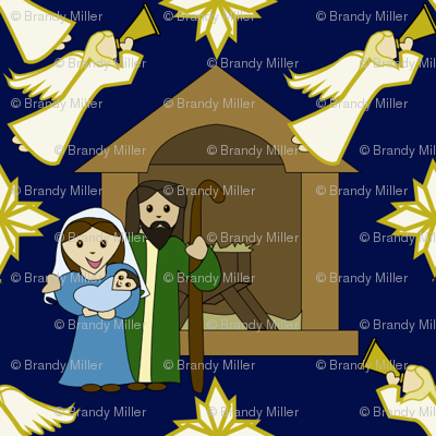 Children's Nativity Design - Angels Everywhere