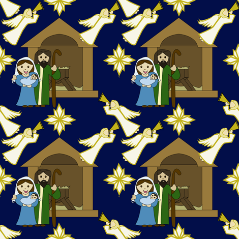 Children's Nativity Design - Angels Everywhere fabric by brandymiller on Spoonflower - custom fabric