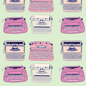Typewriters Pink & Mint