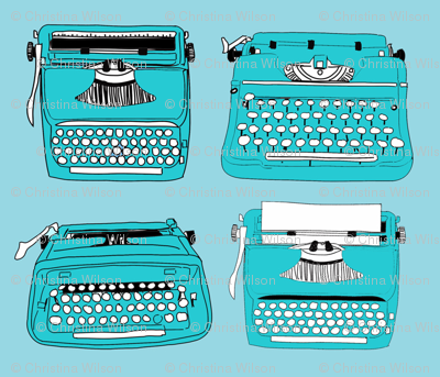 Typewriters Blue