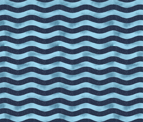 Waves fabric by zandloopster on Spoonflower - custom fabric