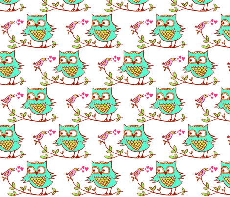eule_und_vogel fabric by monpti on Spoonflower - custom fabric