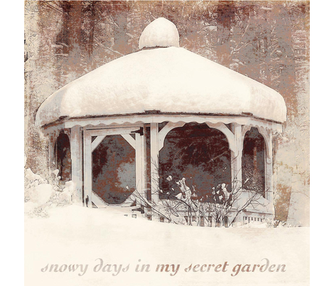 Snowy Days in my Secret Garden fabric by karenharveycox on Spoonflower - custom fabric