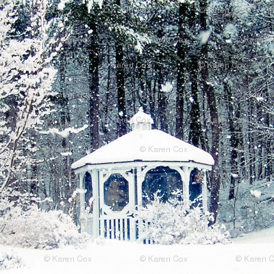 Snowy Gazebo Blue