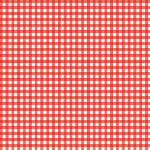 Gingham Coral