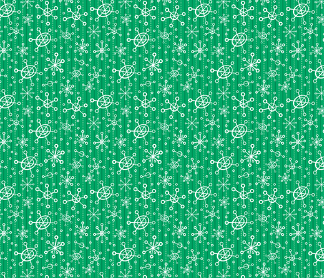 Astro Snowflakes fabric by edmillerdesign on Spoonflower - custom fabric