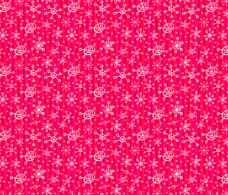 Red Hot Snowflakes fabric by edmillerdesign on Spoonflower - custom fabric