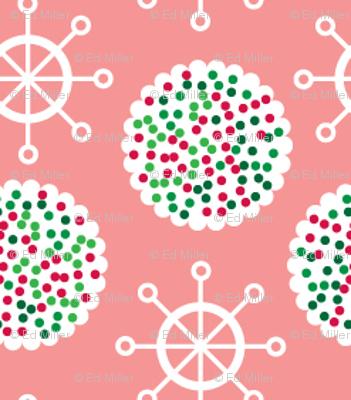 Pink Snowflakes & Cookies