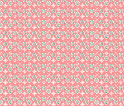Pink Snowflakes & Cookies fabric by edward_elementary on Spoonflower - custom fabric