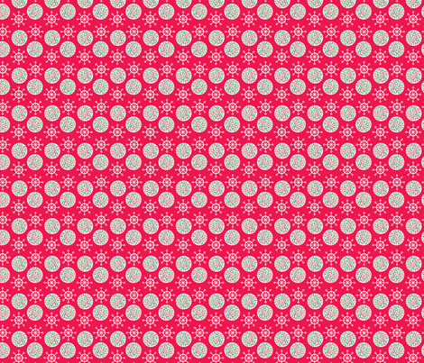 Red Snow & Cookies fabric by edmillerdesign on Spoonflower - custom fabric