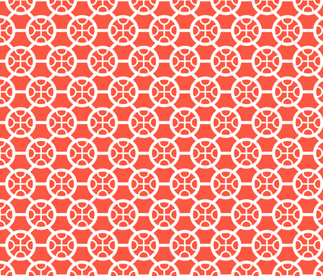 CircleHexa_Red fabric by greenmarrow on Spoonflower - custom fabric