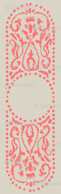 CARTOUCHE - coral and linen