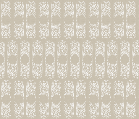 CARTOUCHE - linen fabric by marcador on Spoonflower - custom fabric