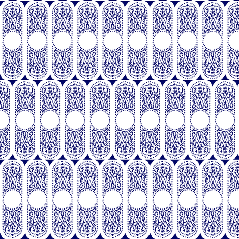 CARTOUCHE - azuli fabric by marcador on Spoonflower - custom fabric