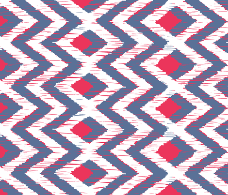 REBOZO - faded red white and grey/blu fabric by marcador on Spoonflower - custom fabric