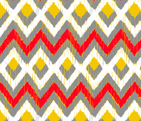 NATIVO - ochre and rojo fabric by marcador on Spoonflower - custom fabric