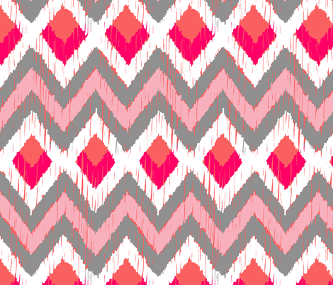 NATIVO - coral blush fabric by marcador on Spoonflower - custom fabric
