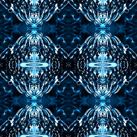 blue ice fabric by dk_designs on Spoonflower - custom fabric