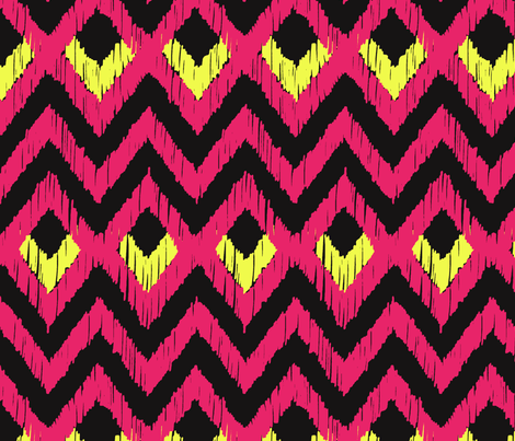 NATIVO - fiery pink and citron fabric by marcador on Spoonflower - custom fabric