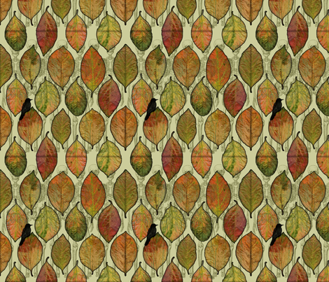 Leaf Me Alone fabric by curlycue on Spoonflower - custom fabric