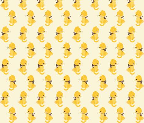 Sunshine Kitten fabric by thalita_dol on Spoonflower - custom fabric